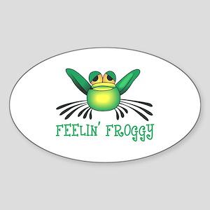 FEELIN FROGGY Sticker