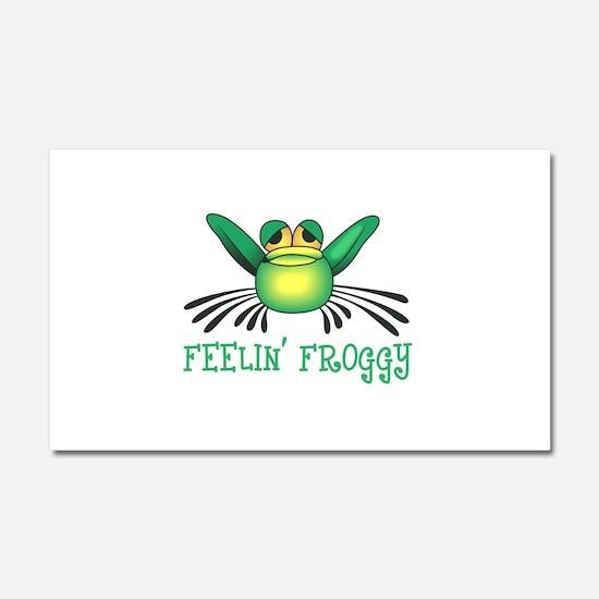 FEELIN FROGGY Car Magnet 20 x 12