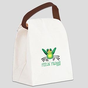 FEELIN FROGGY Canvas Lunch Bag