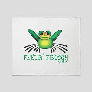 FEELIN FROGGY Throw Blanket