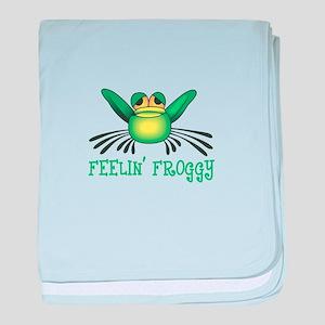 FEELIN FROGGY baby blanket