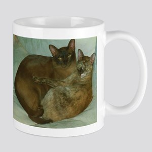 Chocolate and Chocolate Tortoiseshell Burmese Mugs