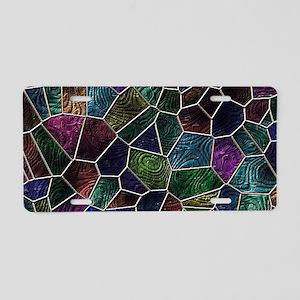 Mosaic LORA multicolor Aluminum License Plate