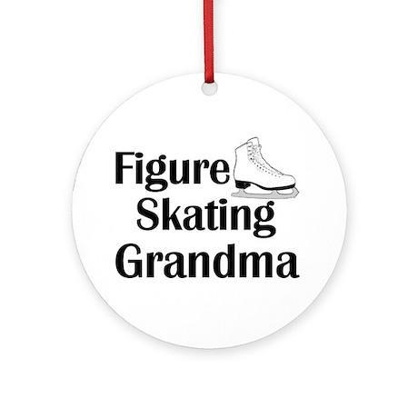 Figure Skating Grandma Ornament (Round)