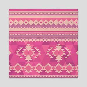 Pink Aztec, Queen Duvet