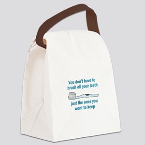 BRUSH ALL YOUR TEETH Canvas Lunch Bag