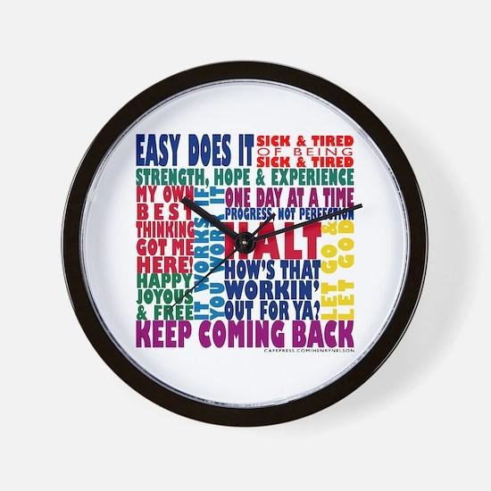 AA 12 Step Slogans 8k Wall Clock