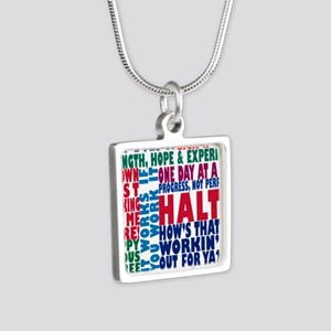 AA 12 Step Slogans 8k Necklaces