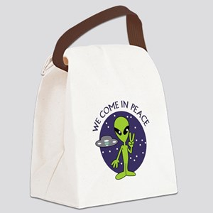 WE COME IN PEACE Canvas Lunch Bag