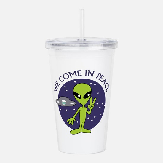 WE COME IN PEACE Acrylic Double-wall Tumbler