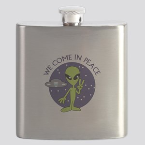 WE COME IN PEACE Flask