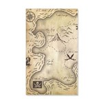 Pirate Map 35x21 Wall Decal