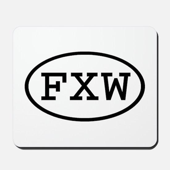 FXW Oval Mousepad