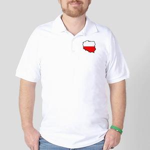 POLAND MAP FLAG Golf Shirt