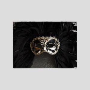 Carnival mask 5'x7'Area Rug