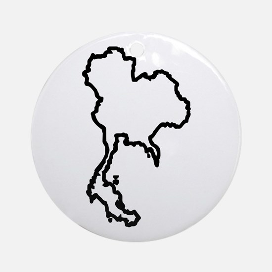 OPEN THAILAND OUTLINE Ornament (Round)