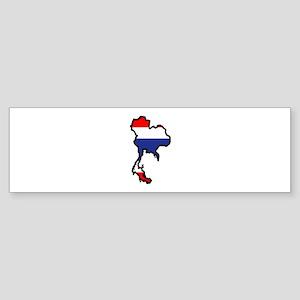 THAILAND MAP FLAG Bumper Sticker