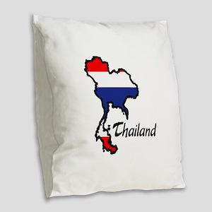 THAILAND Burlap Throw Pillow