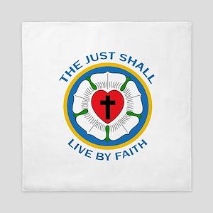 LIVE BY FAITH Queen Duvet