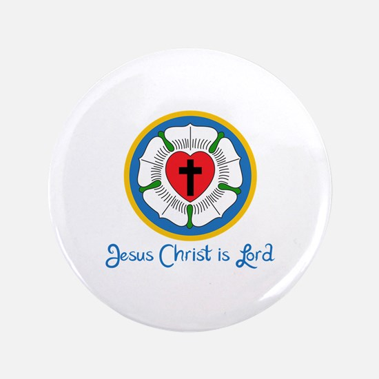 "JESUS IS LORD 3.5"" Button"