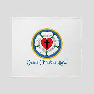 JESUS IS LORD Throw Blanket