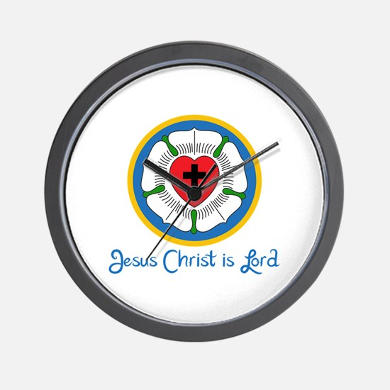 JESUS IS LORD Wall Clock