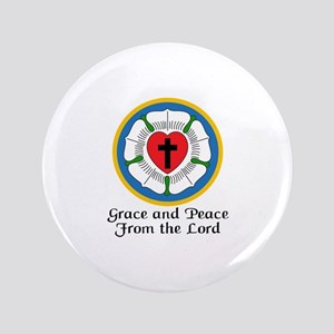 "GRACE AND PEACE 3.5"" Button"