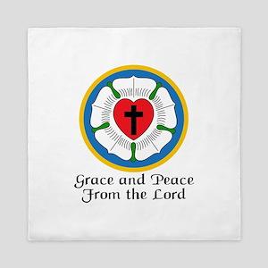 GRACE AND PEACE Queen Duvet