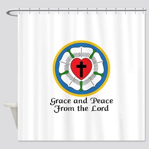 GRACE AND PEACE Shower Curtain