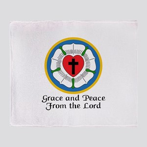 GRACE AND PEACE Throw Blanket