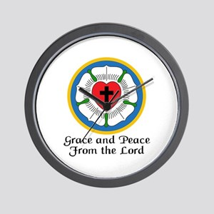 GRACE AND PEACE Wall Clock