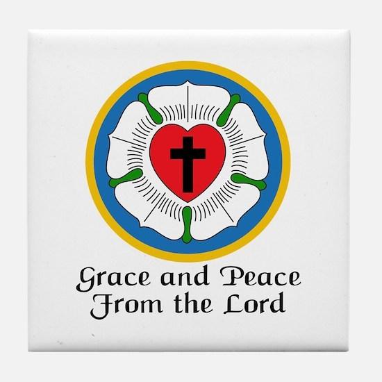 GRACE AND PEACE Tile Coaster