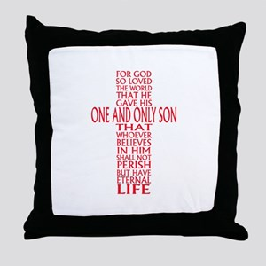 JOHN THREE SIXTEEN 1 Throw Pillow