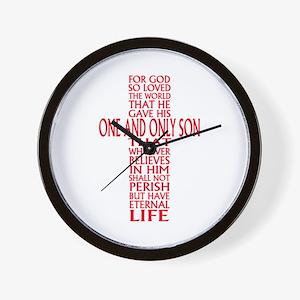 JOHN THREE SIXTEEN 1 Wall Clock