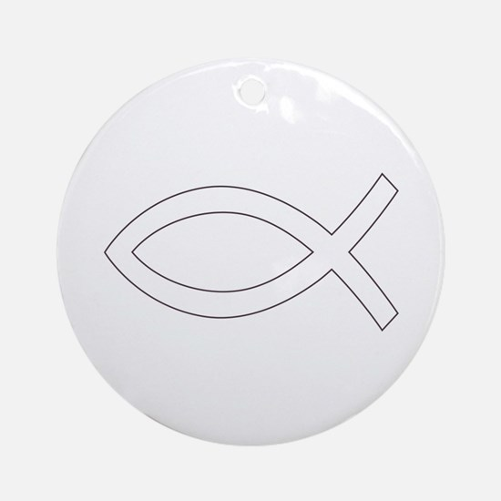 REV APP CHRISTIAN FISH M Ornament (Round)
