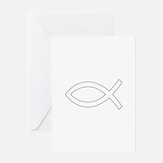 REV APP CHRISTIAN FISH M Greeting Cards
