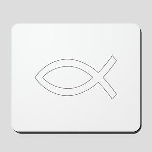 REV APP CHRISTIAN FISH M Mousepad