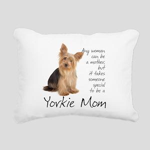 Yorkie Mom Rectangular Canvas Pillow