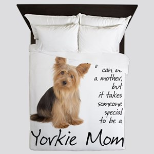 Yorkie Mom Queen Duvet
