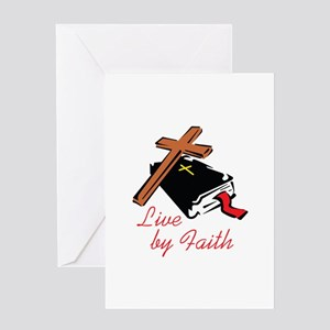 LIVE BY FAITH Greeting Cards