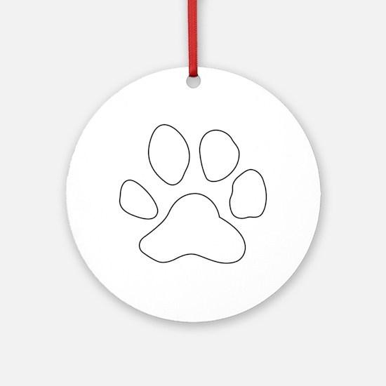 REVERSE APP TIGER PAW S Ornament (Round)