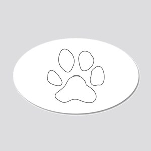 REVERSE APP TIGER PAW S Wall Decal