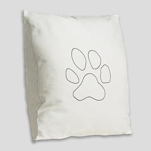 REVERSE APP TIGER PAW S Burlap Throw Pillow