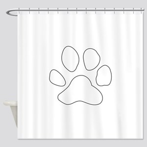 REVERSE APP TIGER PAW S Shower Curtain