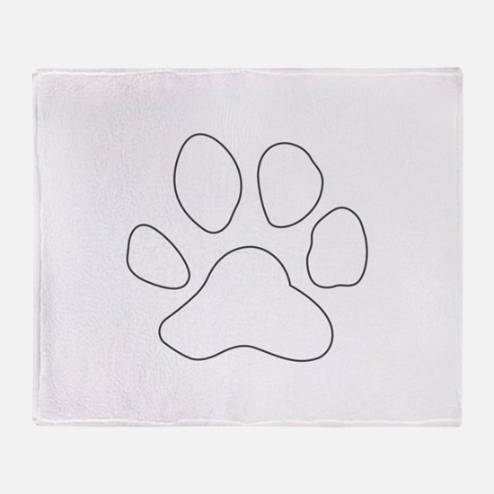 REVERSE APP TIGER PAW S Throw Blanket