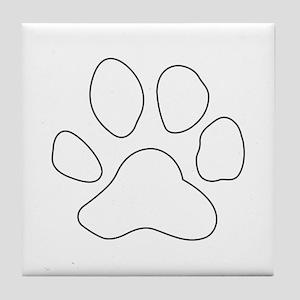 REVERSE APP TIGER PAW S Tile Coaster