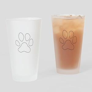 REVERSE APP TIGER PAW S Drinking Glass