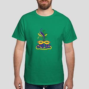 MARDI GRAS MASK AND BEADS T-Shirt