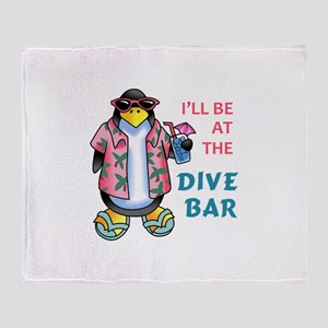 AT THE DIVE BAR Throw Blanket