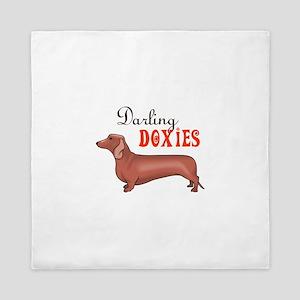 DARLING DOXIES Queen Duvet